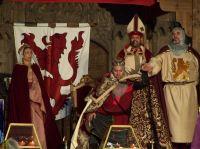 Recreación Coronación Aldefonsus Imperator. Plaza de la Regla. León